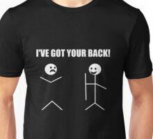 I've Got Your Back Funny Novelty Tee Pun Stick Figure Joke Unisex T-Shirt