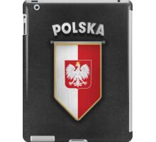 Poland Pennant with high quality leather look iPad Case/Skin