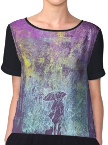 purple rain Women's Chiffon Top