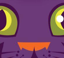 Halloween Cat Face Sticker Sticker