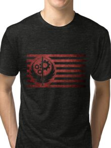 Fallout Brotherhood Flag Tri-blend T-Shirt