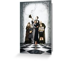 Addams family poster Greeting Card