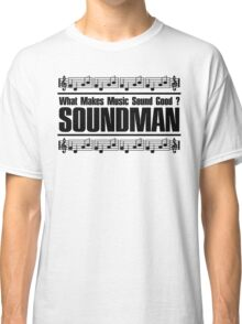 Good Soundman Black Classic T-Shirt