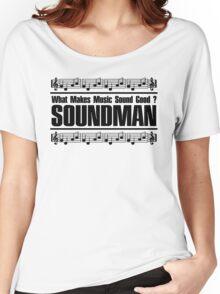 Good Soundman Black Women's Relaxed Fit T-Shirt