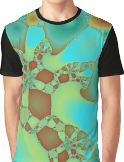 Turquoise  and Rust Graphic T-Shirt