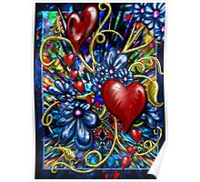 """""""Incense, Hearts & Flowers"""" Poster"""
