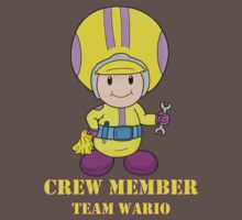 Team Wario Crewmember One Piece - Short Sleeve