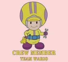 Team Wario Crewmember Kids Tee