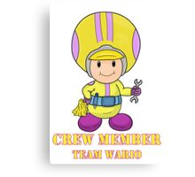 Team Wario Crewmember Canvas Print