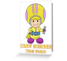 Team Wario Crewmember Greeting Card