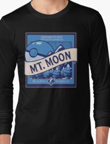 Mt. Moon Pokemon Beer Label Long Sleeve T-Shirt