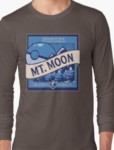 Mt. Moon Pokemon Beer Label Long Sleeve T-Shirt