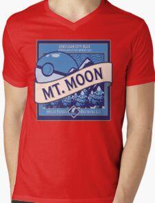Mt. Moon Pokemon Beer Label Mens V-Neck T-Shirt