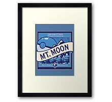 Mt. Moon Pokemon Beer Label Framed Print