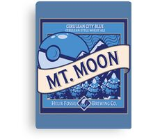 Mt. Moon Pokemon Beer Label Canvas Print
