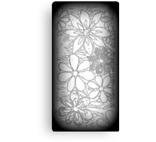 Drawn Burst of Garden of Flowers, Mosaic Canvas Print