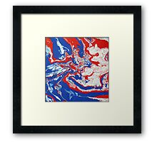Abstract Colourful Canvas Painting Print Framed Print