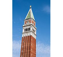 St Mark's Campanile. Photographic Print