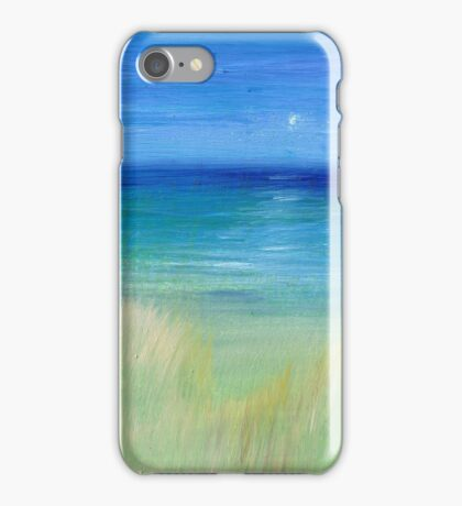 hazy beach mini oil on masonite iPhone Case/Skin