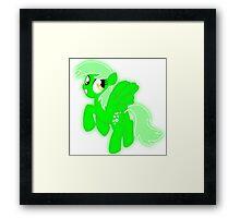Glowing Derpy Framed Print
