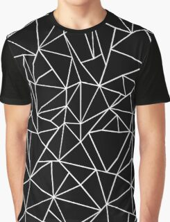 Abstraction Outline Black and white Graphic T-Shirt