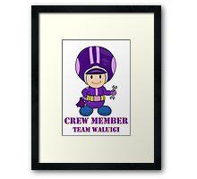 Team Waluigi Crewmember Framed Print