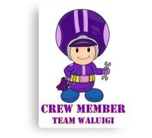 Team Waluigi Crewmember Canvas Print