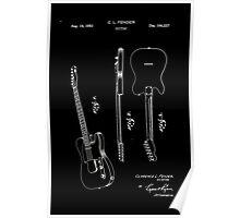Fender Telecaster Guitar Patent 1951 Poster