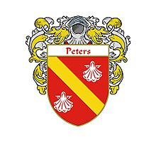 Peters Coat of Arms / Peters Family Crest Photographic Print