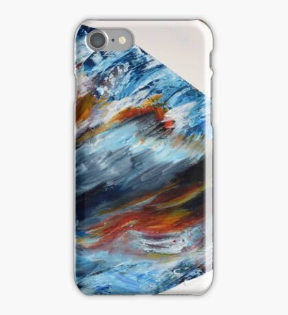 Abstract, Water and Sunset Acrylic Painting iPhone Case/Skin