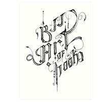 BJJ ART OF HOOKS Art Print
