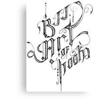 BJJ ART OF HOOKS Metal Print