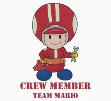 Team Mario Crewmember Kids Clothes