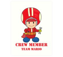 Team Mario Crewmember Art Print