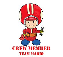 Team Mario Crewmember Photographic Print