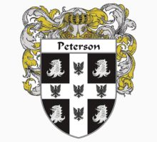 Peterson Coat of Arms / Peterson Family Crest Kids Tee