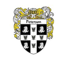 Peterson Coat of Arms / Peterson Family Crest Photographic Print