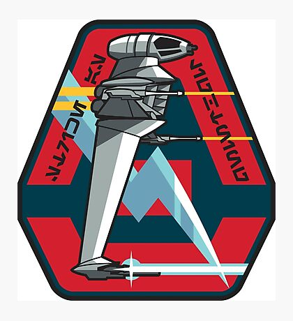 B-WING SQUADRON PATCH Photographic Print
