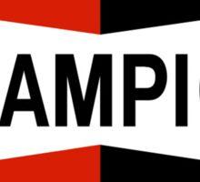 CHAMPION SPARK PLUG RACING CAR Sticker