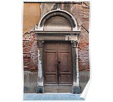 Old door. Poster