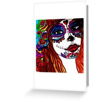 catrina and colors Greeting Card
