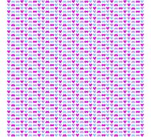 Cute Space Invaders Pixel Pattern Photographic Print