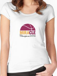 MIRACLE - Cleveland Basketball 2016 Champions Women's Fitted Scoop T-Shirt