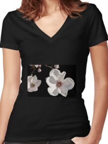 Magnolia Women's Fitted V-Neck T-Shirt