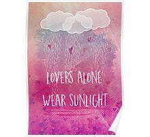 lovers alone wear sunlight Poster