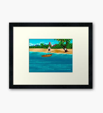 MONKEY ISLAND BEACH Framed Print