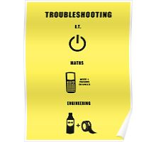 Troubleshooting (dark shirt) Poster