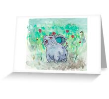 Nidoran Pokemon Greeting Card