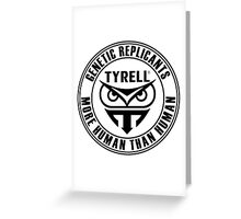 TYRELL CORPORATION - BLADE RUNNER (BLACK) Greeting Card