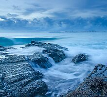 Stormy Seas - Currumbin Beach, Gold Coast, Australia by Ann Pinnock